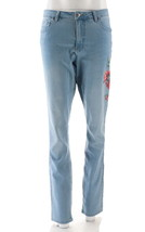 Women with Control My Wonder Denim Tall Novelty Jeans Bleached 10 NEW A3... - $40.57