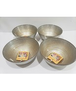 x4 TURKISH DELIGHTS GOLD SILVER SPARKLE BOWLS GLASS PLATES  - $59.99