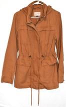 Universal Thread Women's Brown Anorak Full Zip Hooded Cotton Jacket Size S