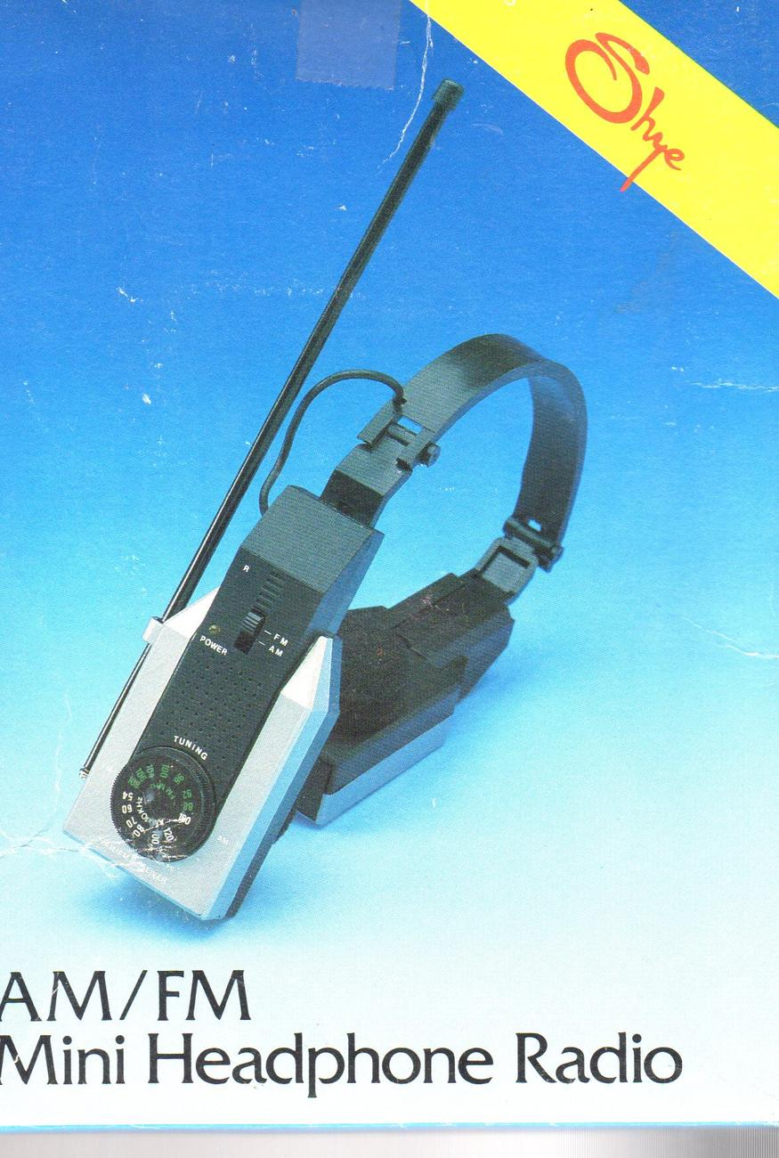Radio -Headphone Radio -AM/FM