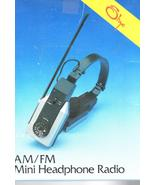 Radio -Headphone Radio -AM/FM - $9.75