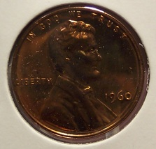 1960 Proof Lincoln Penny Large Date #0760 - $1.69