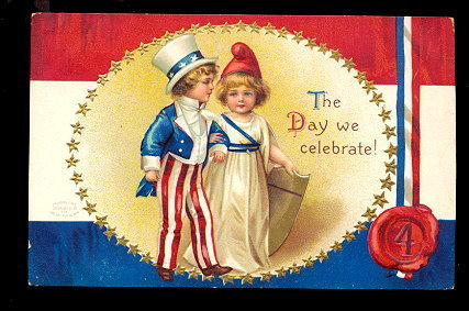 Primary image for Ellen Clapsaddle July 4th Children 1907 Postcard