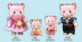 Konggi Rabbit and Friends Lina Cat Family Stuffed Animal Cat Plush Toy image 2