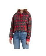 Levi's Womens' Red Plaid Hoodie Drawstring Sweatshirt Size Large Reg $89 - $29.69