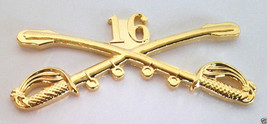 16TH Cavalry Insignia Swords Military Veteran Us Army Hat Pin 16191 Large Ho Lp - $7.91