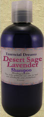 Desert Sage & Lavender Shampoo~ Body Care Organic 8 oz Bonanza