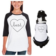 Best Babes Kid and Pet Matching Black And White Baseball Shirts - $35.99