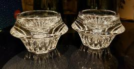 Pair (2) Gorham Crystal - Lyric Pattern - Candlesticks / Candle Holders - $59.95