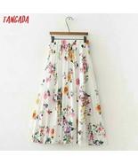 Summer floral pleated skirt women trending styles midi skirt casual bran... - $38.99