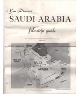Filmstrip -Saudi Arabi Copyright 1971 - $3.95