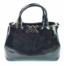 Michael Kors Florenz schwarzes Lackleder Handtasche Umhängetasche - $6.565,80 MXN