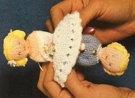 Z532 Knit PATTERN ONLY Topsy-Turvy Bride and Mother Doll Pattern Knitting - $7.50