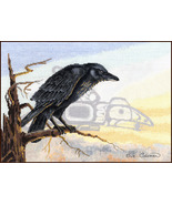 Raven cross stitch chart Sue Coleman The Stitching Studio  - $14.40