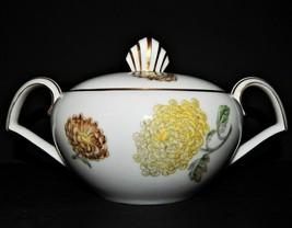 Kent Verona Round Covered Sugar Bowl Occupied Japan Chrysanthemum Gold R... - $32.66