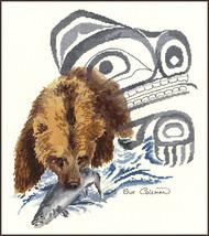 Bear Fishing cross stitch chart Sue Coleman The Stitching Studio  - $14.40