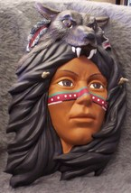 Indian and wolf Mask - $7.00