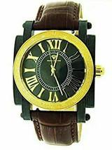 Aqua Master Black Face 20 Diamonds Yellow Gold & Black Case Watch - $197.99