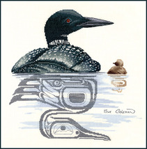Loon and Chick cross stitch chart Sue Coleman The Stitching Studio  - €12,60 EUR
