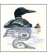 Loon and Chick cross stitch chart Sue Coleman The Stitching Studio  - $14.40