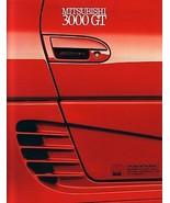 1990/1991 Mitsubishi 3000GT sales brochure catalog US 91 SL VR-4 - $10.00
