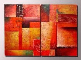 Framed !! Handmade Modern Abstract Decor Canvas... - $76.00