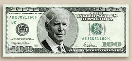 FINE ART JOE BIDEN PORTRAIT SIGNATURE NOTE $100 BILL ONE HUNDRED DOLLARS... - $19.99