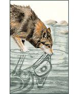 Wolf cross stitch chart Sue Coleman The Stitching Studio  - $14.40