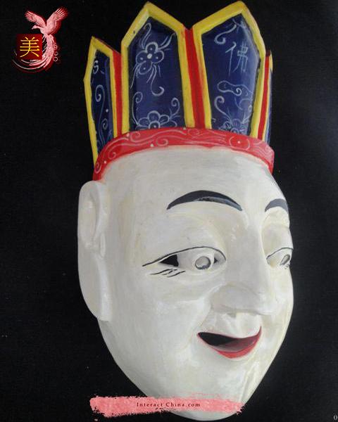 Chinese Home Wall Décor Ritual Dance Mask 100% Wood Craft Folk Art #121 Pro
