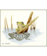 Frog cross stitch chart Sue Coleman The Stitching Studio  - $14.40