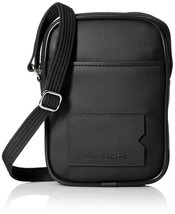 Lacoste Men's Classic Embossed Croc Logo Vertical Camera Bag Black Iris NH1642HC