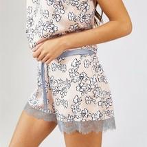 Pretty You London Womens Nightwear Shorts Floral in Blush Pink - Medium - $40.00