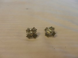 Vintage Coro Silver Tone Metal Sunshine Star Style Pair of Post Clip On ... - $39.60