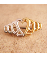 Sterling Heart brooch - I LOVE you - sweetheart Gift - gold over sterlin... - $40.00
