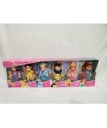 NEW SEALED Disney Petite Princess Doll Set of 6 Rapunzel Belle Cinderell... - $74.44