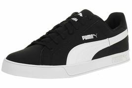 Puma Uomo Smash Vulc Scarpe Sportive in pelle 359622-09 Nero/Bianco - $63.89
