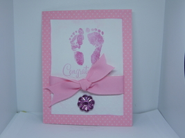 Baby girl/ the first steps a baby takes is into your heart - $7.50