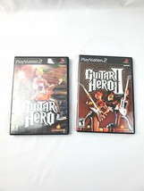 Lot of 2 Playstation 2 Guitar Hero 1 and 2 PS2 Video Games Free Shipping - $11.87