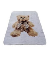 LUXURY SUPERSOFT TEDDY BEAR SHERPA FLEECE THROW BLANKET 150CM X 200CM - ... - $35.51 CAD