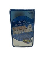 Wheel of Fortune 25th Silver Anniversary Edition Game & TIN! 2007 Travel Ed. - $17.72