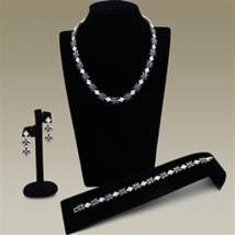 LO2324 - Brass Jewelry Sets Rhodium Women AAA Grade CZ Amethyst - $84.39