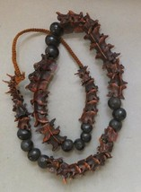 Shaman Necklace Strand Snake Vertebrae Bone and Seed Beads collectible S... - $327.25