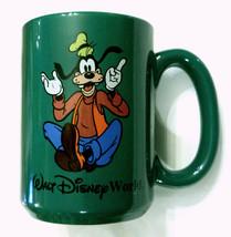 Walt Disney Goofy Coffee Mug Green Cartoon Hound Dog Tea Cup Collectible  - $24.71