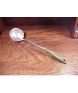 Vintage 1970's EarthGrown Canning Dipper, Steel Ladle, Avocado Green Handle - $9.95