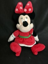 "Disney Baby Minnie Mouse Mrs Claus Christmas Plush Doll Santa 15"" - $7.72"