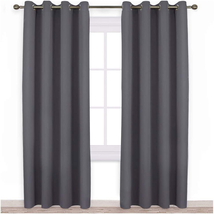 NICETOWN Blackout Curtains Panels for Bedroom - 3 Pass Microfiber Noise ... - $29.12