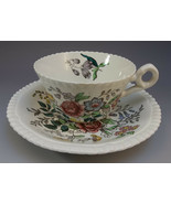 Copeland Spode Romney Gadroon Tea Cup and Saucer Set English Floral Roses - $13.86