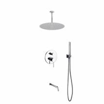 "Aqua Rondo Shower Set w/ Ceiling Mount 20"" Rain Shower, Handheld and Tub... - $484.00"