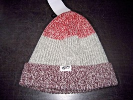 Vans Shoes Twilly Unisex Winter Beanie Striped Red Grey Purple NWT Ships... - $16.34