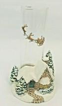 Thomas Kinkade Memories of Christmas Cottage Candle Holder Glass Globe 2005 - $32.66